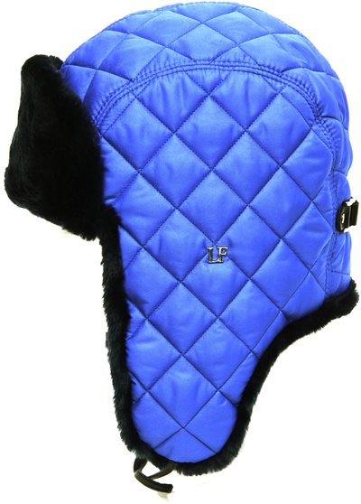Ушанка LF-Rocky, искусственный мех, ткань плащевая, цвет синий 3622-6