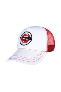 Бейсболка LF LADY Tracker, ткань хлопок, цвет белый/красный