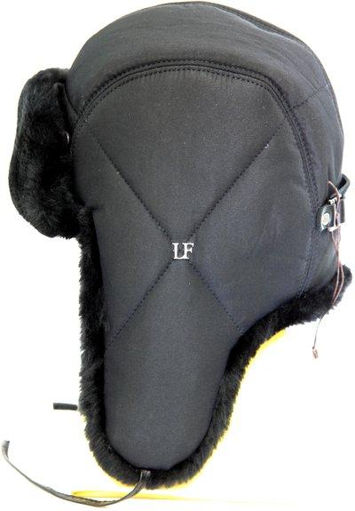 Ушанка LF-pilot, искусственный мех, ткань плащевая, цвет черный 3192-1