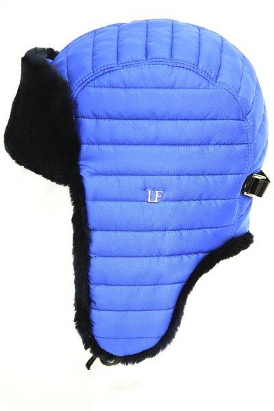 Ушанка LF-Rocky, искусственный мех, ткань плащевая, цвет синий 3532-6