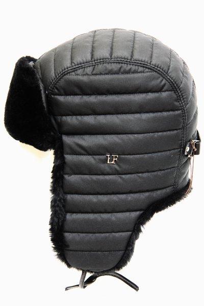 Ушанка LF-Rocky, искусственный мех, ткань плащевая, цвет черный 3532-1