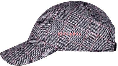 Бейсболка, ткань (шерсть), цвет серый/красный 079-65