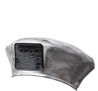 Берет LF CITY, кожа, серебро 74016-13