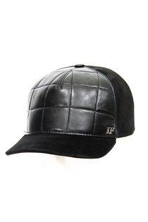 Бейсболка LF Cap color, кожа комби замша, цвет черный