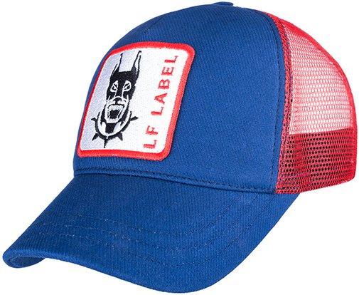 Бейсболка трекерка, ткань хлопок, цвет синий/красный 753104