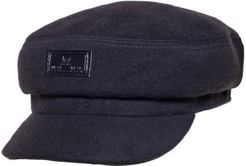 Капитанка NAV, драп, цвет черный 231-9