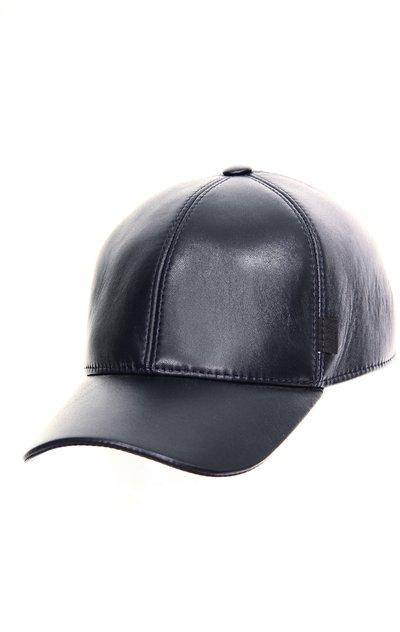 Бейсболка classic, кожа, цвет синий 0705