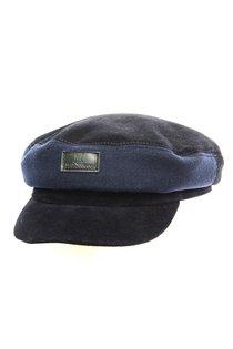 Капитанка NAV, замша, ткань (шерсть), цвет синий
