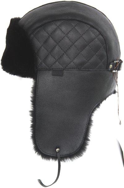 Ушанка LF Brilliance Eclipce, мех овчина MERINOS, цвет черный 002