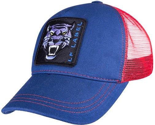 Бейсболка трекерка, ткань хлопок, цвет синий/красный 753101