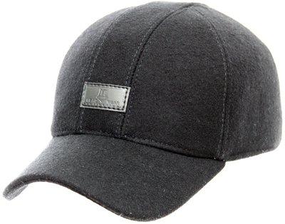 Бейсболка London, драп, цвет черный 061-9