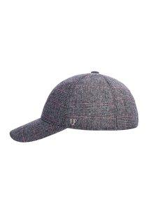 Бейсболка, ткань (шерсть), цвет серый/красный