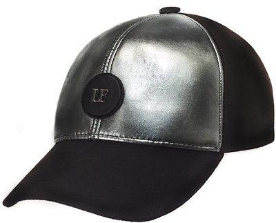 Бейсболка LF SILVER, кожа/замша 0701-16