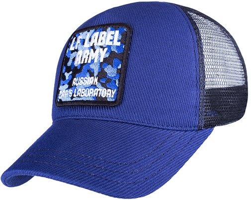 Бейсболка трекерка, ткань хлопок, цвет синий/чёрный 75396