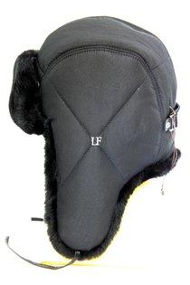 Ушанка LF-pilot, искусственный мех, ткань плащевая, цвет черный