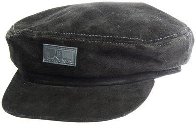 Капитанка NAV, замша, цвет черный 2301