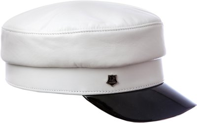 Картуз LF LADY, кожа, цвет белый 71-23020