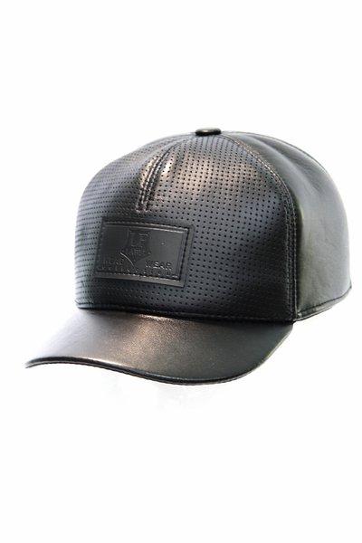 Бейсболка LF Cap color, кожа перфорированная, цвет черный 02202