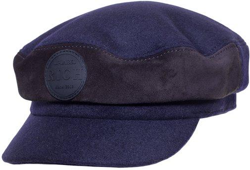 Капитанка LF-LABEL, ткань, замша, цвет синий 231-35-6