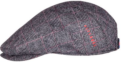 Кепка, ткань (шерсть), цвет серый/красный 121-65L