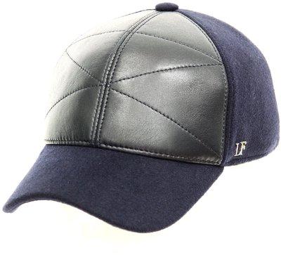 Бейсболка LF Cap Color, замша, ткань (шерсть), цвет синий 0305-35
